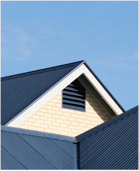 angled roof of Sydney property